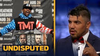 Victor Ortiz makes his prediction for the Mayweather vs McGregor mega-fight | UNDISPUTED