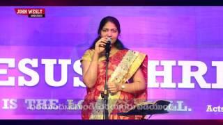 Latest Telugu Christian devotional Song    Mrs Blessie Wesly    Sameepincharani Tejassulo