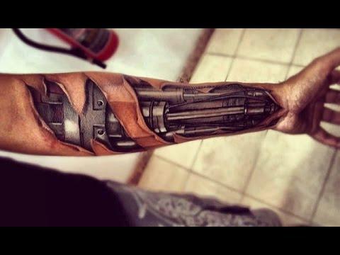 3D TATTOOS 3D Robotic Tattoo Designs