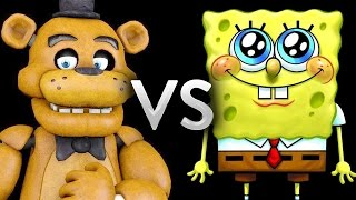 FNAF Vs SpongeBob - Epic Battle - Left 4 dead 2 Gameplay (Left 4 dead 2 Custom Skin mods)