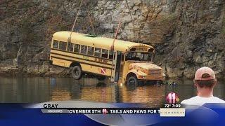 Quarry sinks school bus
