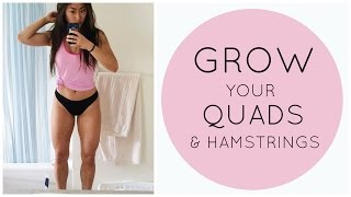 Grow Your Quads & Hamstrings | NEW CAMERA!