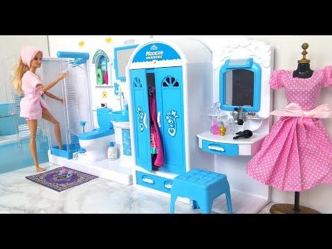 Xxx Mp4 Barbie Bathroom Bedroom Morning Routine باربي دمية الحمام غرفة نوم Barbie Banheiro Quarto 3gp Sex