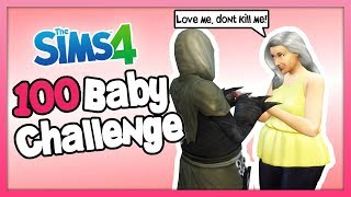 FLIRTING WITH THE GRIM REAPER SO HE WONT KILL ME! - The Sims 4: 100 Baby Challenge - Part 69