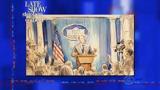 Stephen Leaks Drawings Of Sean Spicer