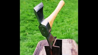 Making axe with angle grinder