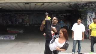 Streetdance b-boys vs karate girl Chloe Bruce