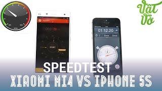 Vật Vờ - Xiaomi Mi4 vs iPhone 5s: so sánh hiệu năng, quản lí ram, speedtest
