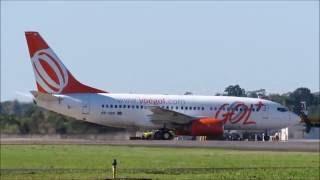 Pouso e Decolagem em Joinville 737-700 Gol (PR-VBN) 22/08/2016