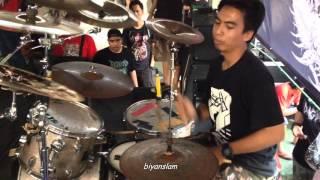 Humuliation Drum Cam Live At Lamongan DeathFest 2015