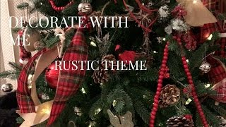 Rustic Christmas Tree (How to)(and dollar tree ornaments)