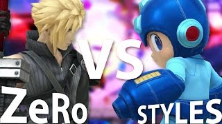 SUPER SMASH BROS - TSM ZeRo (Cloud) Vs. StylesX2 (Mega Man)