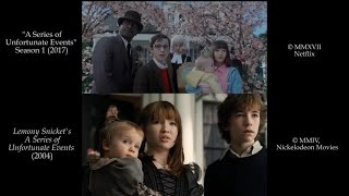 A Series of Unfortunate Events: Side-by-Side (Film/Show Comparison)