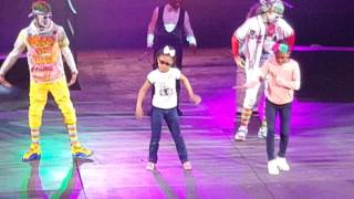 Alayah Sykes dancing with fresh the clowns