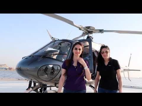 Helicopter ride around Dubai!