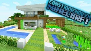 Como hacer una casa moderna de hormigón en minecraft OmarZcraft
