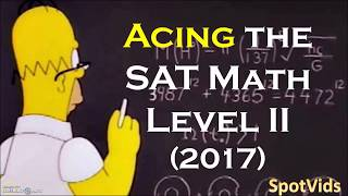 How to get a PERFECT score (800) on the SAT Math Level 2 Subject Test!