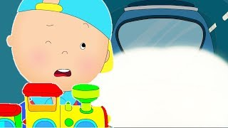 Caillou rides the subway | Funny Animated cartoons Kids | WATCH ONLINE | Cartoon for Children