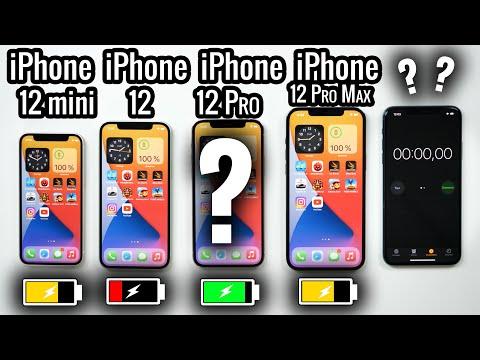 iPhone 12 mini vs 12 vs 12 Pro vs 12 Pro max Test Batterie