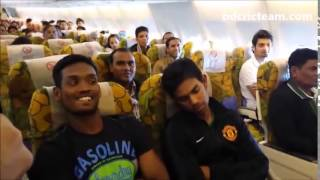 Funny moment of Bangladesh Cricket Team members on airplane