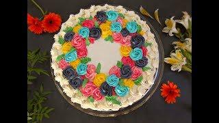 জন্মদিনের কেক || বার্থডে কেক ডেকোরেশন || Birthday Cake Decorating Idea with Buttercream,Bangla
