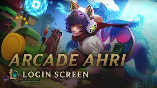 Bit Rush: Arcade Ahri | Login Screen - League of Legends