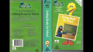 My Sesame Street Home Video Getting Ready For School