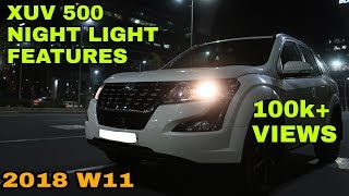 2018 Mahindra XUV500   Facelift   Light Feartures   In Night   VBO Vlogs   2018
