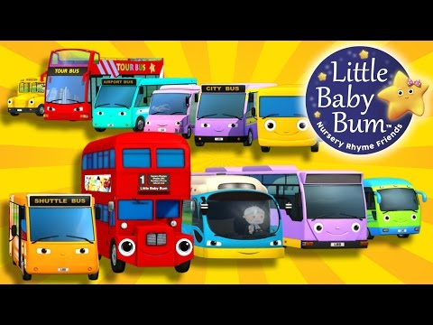 Bus Song   Different Types of Buses!   Nursery Rhymes   By LittleBabyBum!