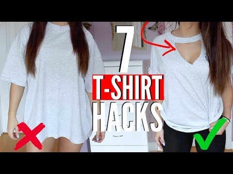 Xxx Mp4 7 T SHIRT HACKS EVERY Girl SHOULD Know How To Transform Your OLD T SHIRTS NO SEW 3gp Sex