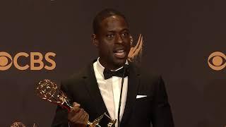 Sterling K Brown - 2017 Emmys - Full Backstage Speech