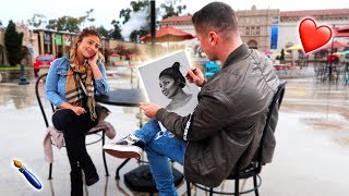 I SURPRISED MY GIRLFRIEND WITH A MASTERPIECE OF HERSELF!!! **EMOTIONAL SURPRISE**