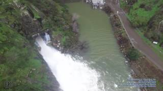 Drone Captures 'Glory Hole' Spillway at Lake Berryessa Overflowing