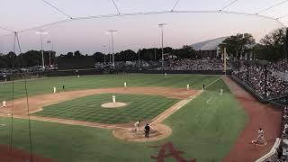Sun sets on Alabama-Auburn baseball game