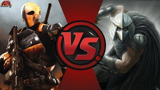 DEATHSTROKE vs SHREDDER! (DC Comics vs TMNT) Cartoon Fight Club Episode 158