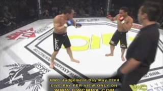 UWC® Pat Runez vs John Dodson UWC MMA Flyweight World Title Fight Round 2