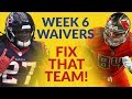 Week 6's Fantasy Football Waiver Wire Has A Couple Potential Feature Backs…And So Many Bucs!