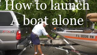 How to Launch a Boat alone