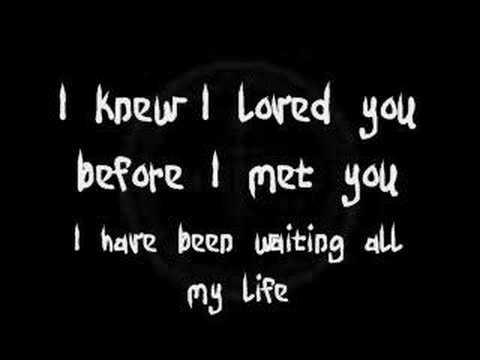Savage Garden I Knew I Loved You Lyrics