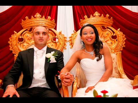 AMAZING INTERRACIAL WEDDING - Indian & Black Couple - African Wedding  -  Indian Wedding - LOVE