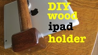How to ● Diy Wooden ipad Holder ● With a Tripod Mount!