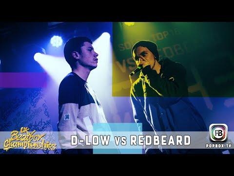 D-Low vs Redbeard | Solo Top 16 | 2017 UK Beatbox Championships