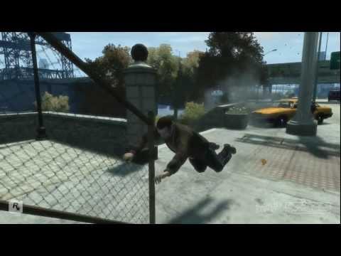 GTA IV mortes e pancadas engraçadas HD