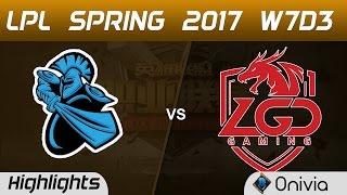 NB vs LGD Highlights Game 3 LPL Spring 2017 W7D3  NewBee vs LGD Gaming