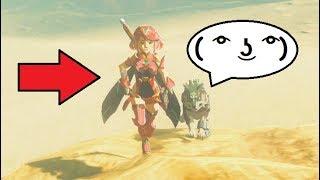 Zelda Becomes Pyra from Xenoblade Chronicles 2!!! (Mod) Zelda BotW