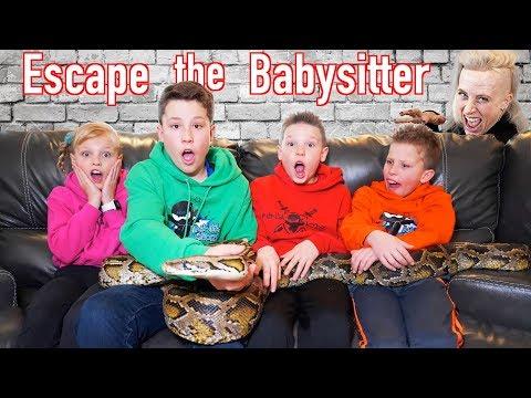 Escape the Babysitter Ninja Kidz vs Babysitter Escape Room
