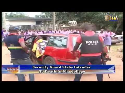 Xxx Mp4 Security Guard Stabs Intruder To Death In Idia College 3gp Sex