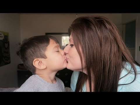 MOM KISSES SON ON MOUTH!