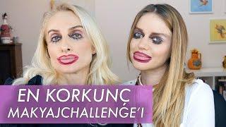 Ters Makyaj Korkunç Challenge !!!  ECEM KARAVUS | Sebi Bebi