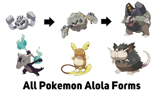 All Alola Forms in Pokemon Sun and Moon!